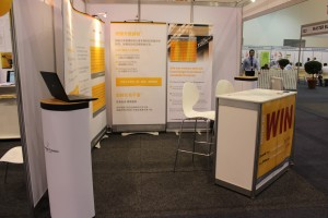Our stand, left view